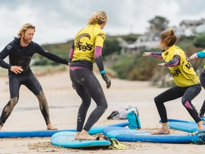 4 Days Luxury Surf and Yoga Retreat in Cornwall, UK