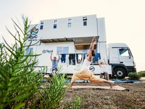 7 Days Surf and Yoga Retreat in a Unique Truck Hotel in Portugal