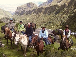 8 Day Full Deluxe Classic Inca Trail Horse Riding Holiday from Cusco to Machu Picchu, Peru