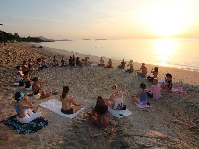 Mini Kühlschrank Yoga : Tage meditations und vikasa yoga retreat auf koh samui thailand